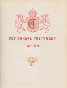 Det danske postvæsen 1624 - 1924 (Forside)