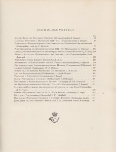 Det danske postvæsen 1624 - 1924 (Indhold)