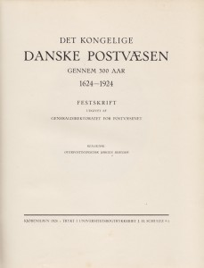 Det danske postvæsen 1624 - 1924 (Titelblad)
