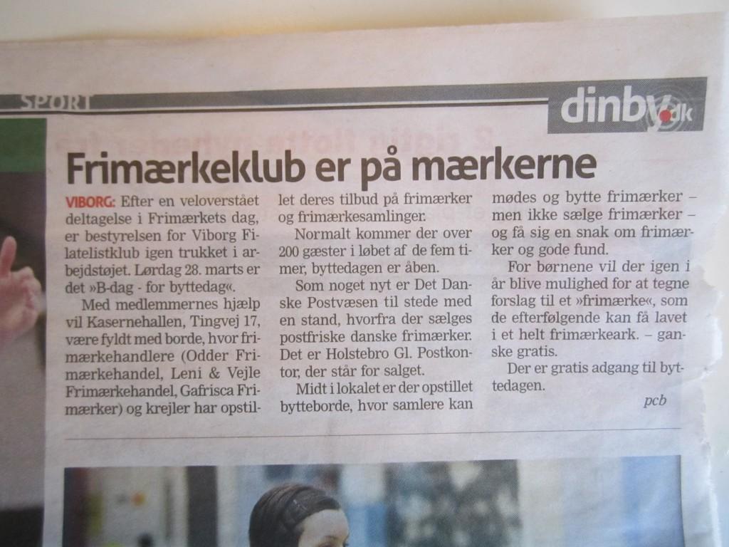 2015-03-25 - Fra Viborg Nyt - Frimærkets dag og Byttedagen